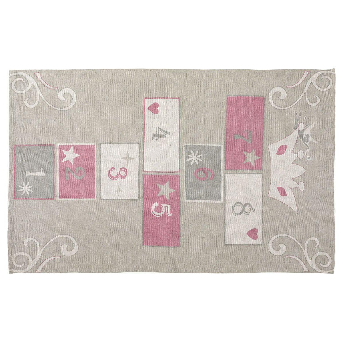 tapis marelle enfant princesse 120x180