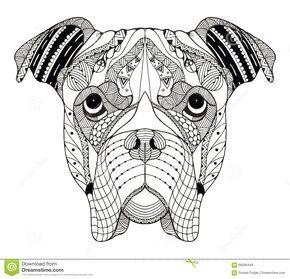 Resultado de imagen para zentangle dogs