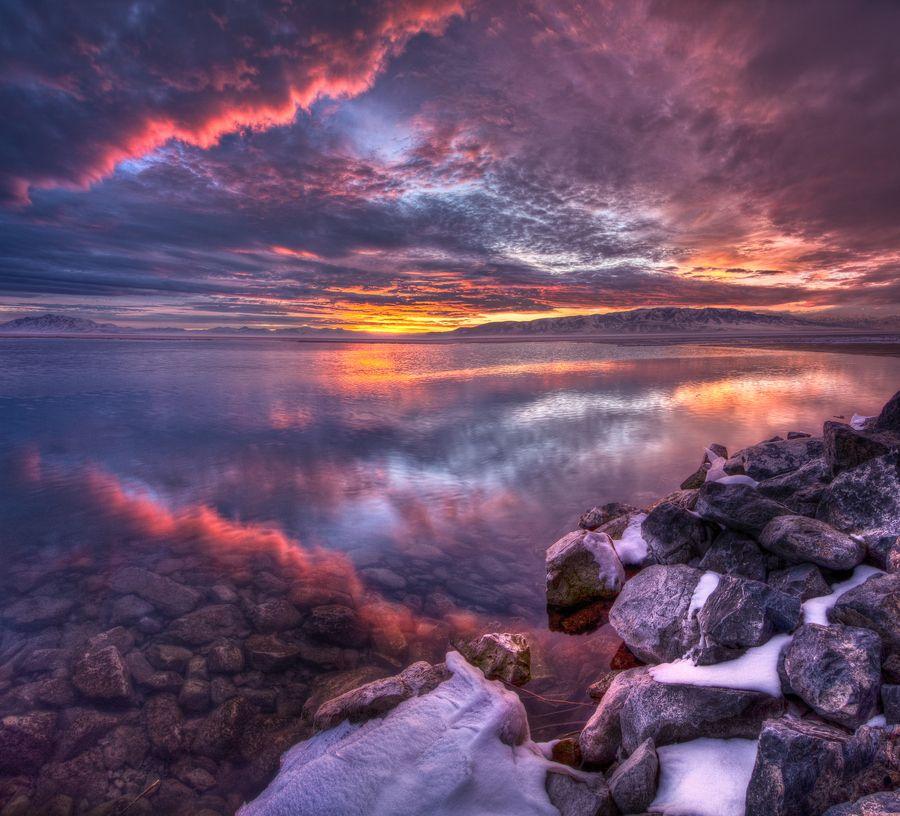 Winter Sunset  by Bill Church