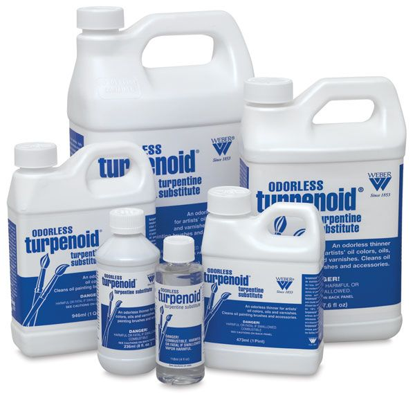 Weber Odorless Turpenoid Art Materials Oil Painting Supplies Painting Supplies