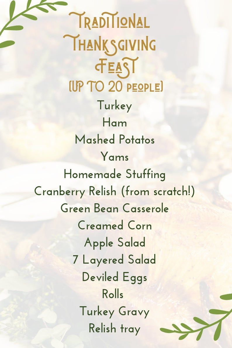 Step-by-Step Guide for Hosting a Thanksgiving Feast | Etsy
