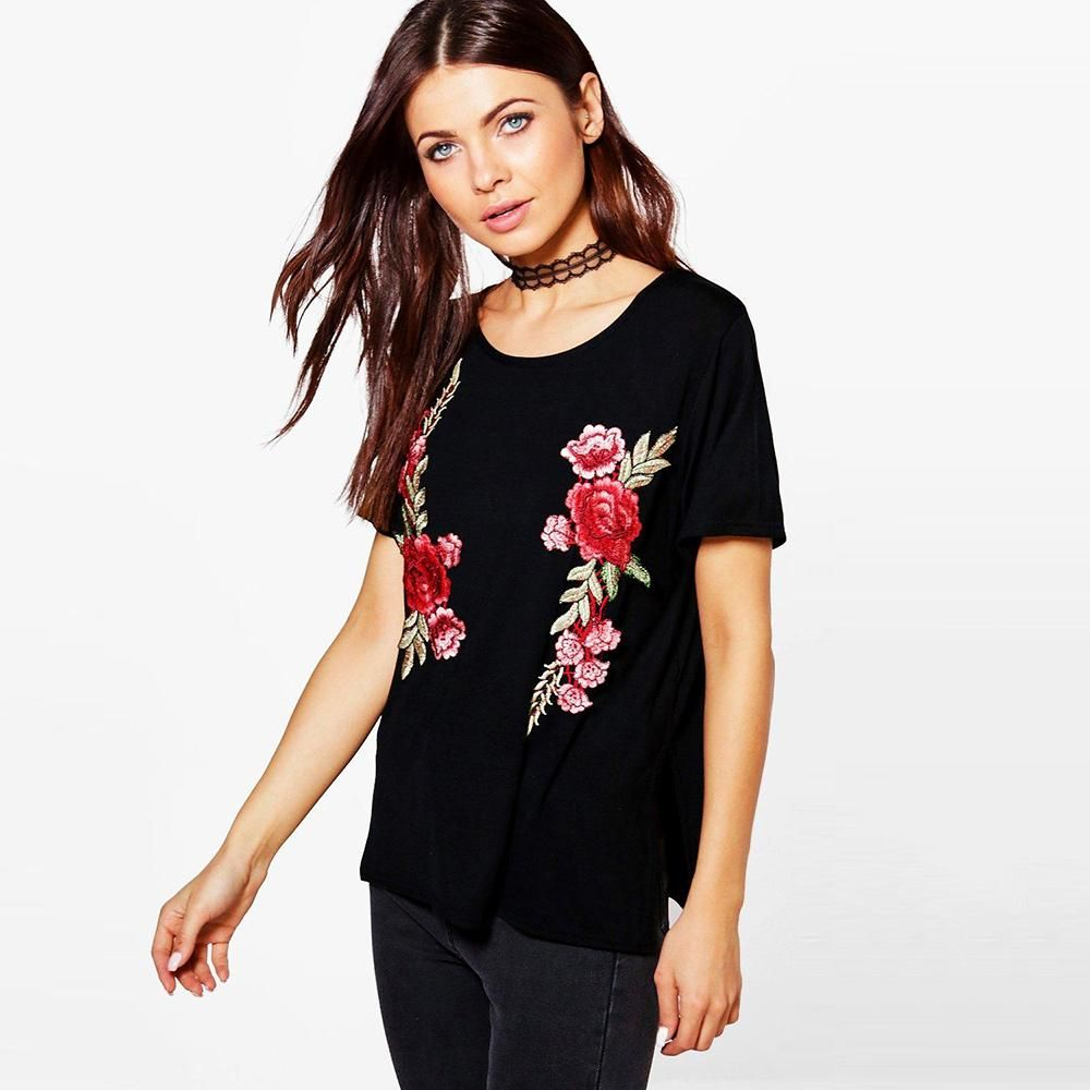 Women Summer Printed O-Neck Tee Short Sleeve Casual T-shirt Blouse Tops UK