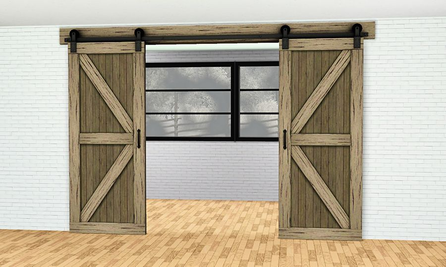 Gelinagelina Double Sliding Barn Door Arch For Blitzgal Rustic