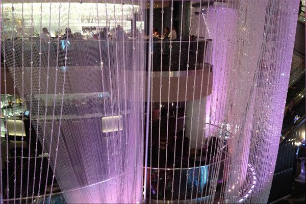 Amazing chandelier at the Cosmopolitan Hotel - Las Vegas Boulevard - Las Vegas, Nevada, USA