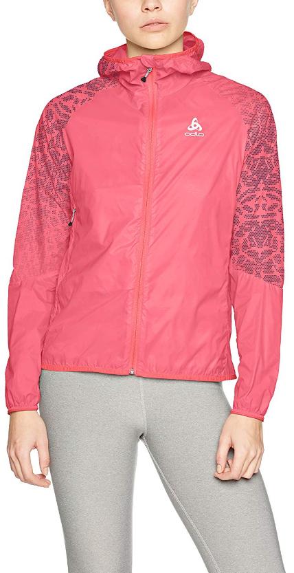8941b4900369db Odlo Damen Jacket WISP Jacke Dubarry - Placed Print SS18 XS     Windbeständiges und leichtes