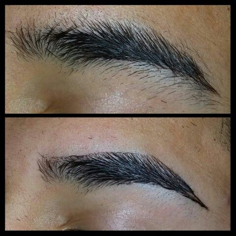 Eyebrows Before And After With Straight Razor Eyebrow Before And