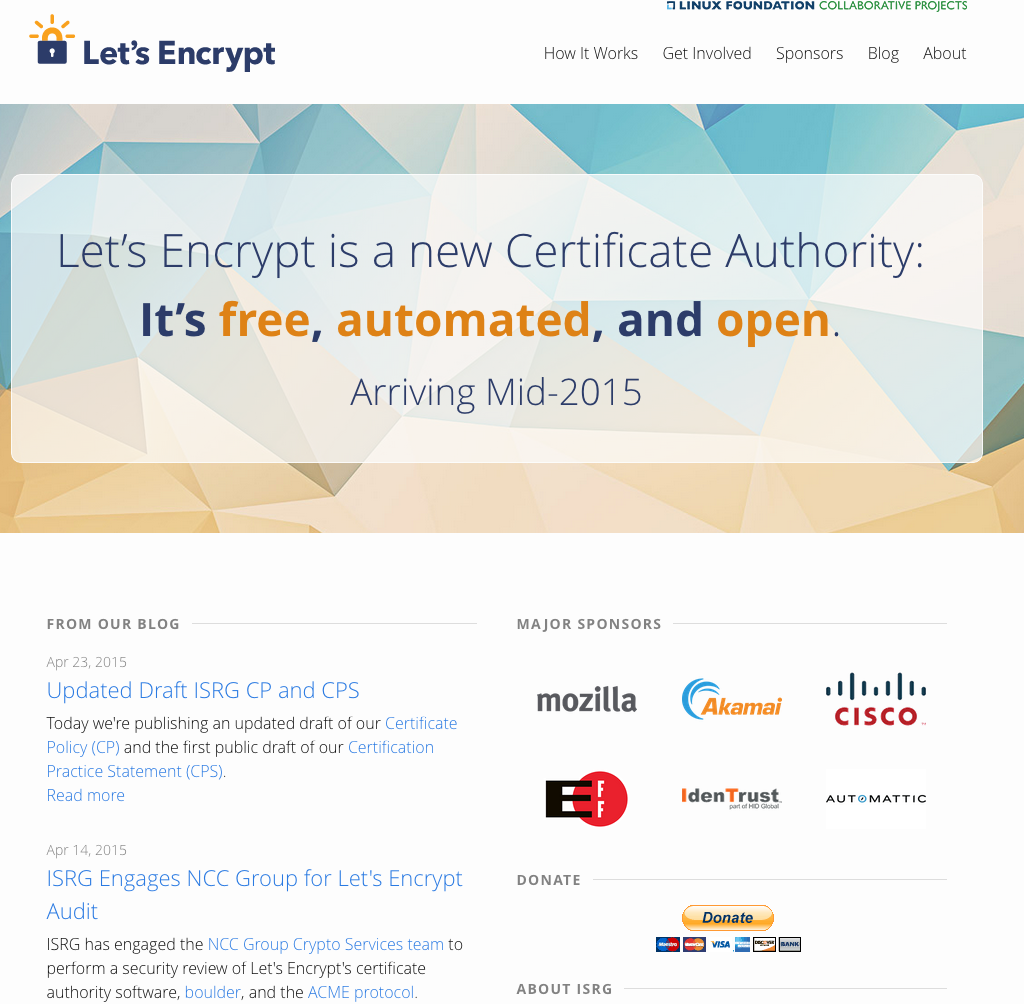 Lets Encrypt Is A New Certificate Authority Its Free Automated