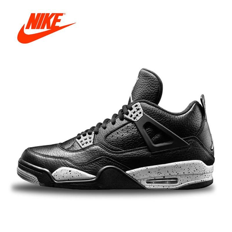 4742eda97c3 Original New Arrival Authentic Nike Air Jordan 4 Oreo AJ4 Breathable Men's  Basketball Shoes Sports Sneakers