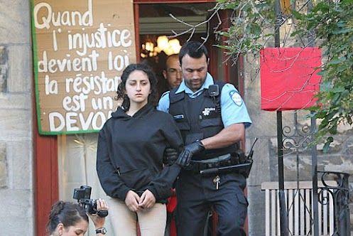 Amir Khadir va devenir un héros... ou un ex-député. À suivre...  http://www.lapresse.ca/actualites/dossiers/conflit-etudiant/201206/07/01-4532496-arrestations-et-perquisitions-liees-au-conflit-etudiant.php