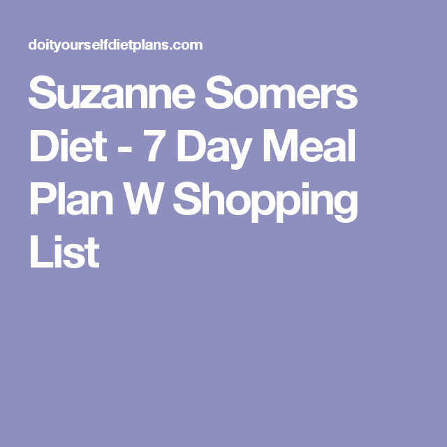 suzanne somers diet foods