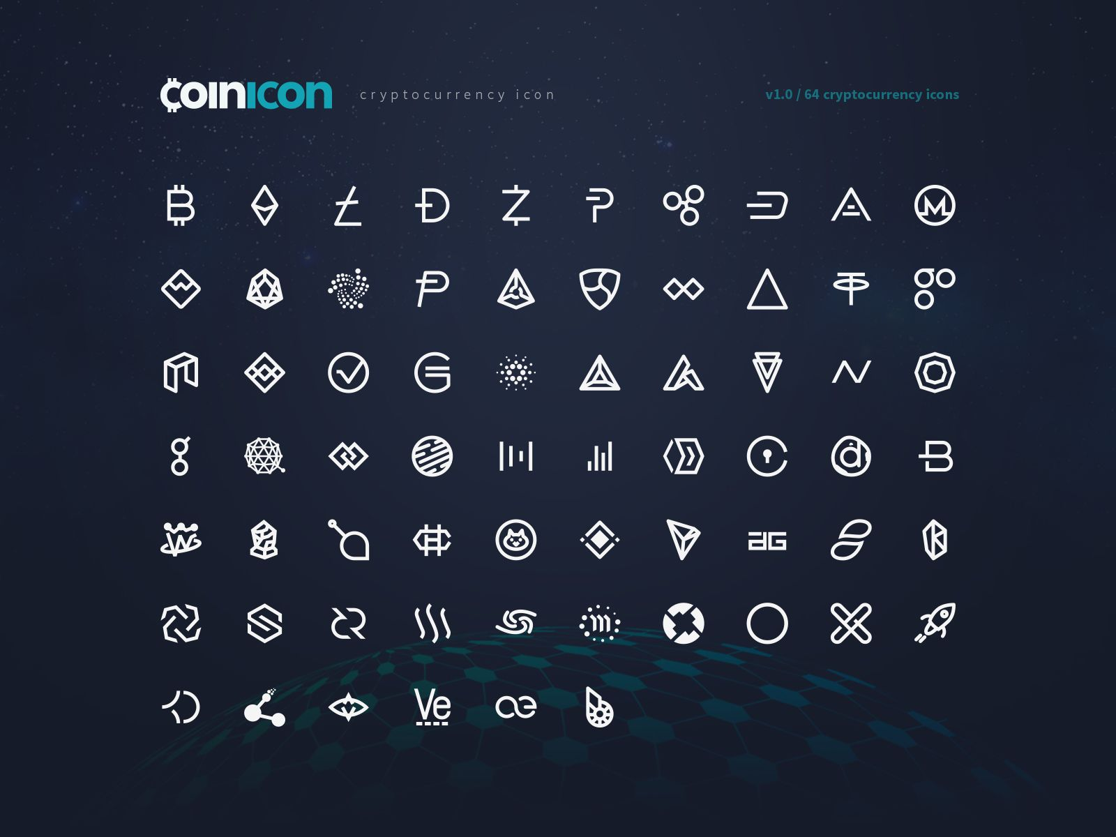 Coinicon Cryptocurrency Icon Fonts & CSS Bundle Icon