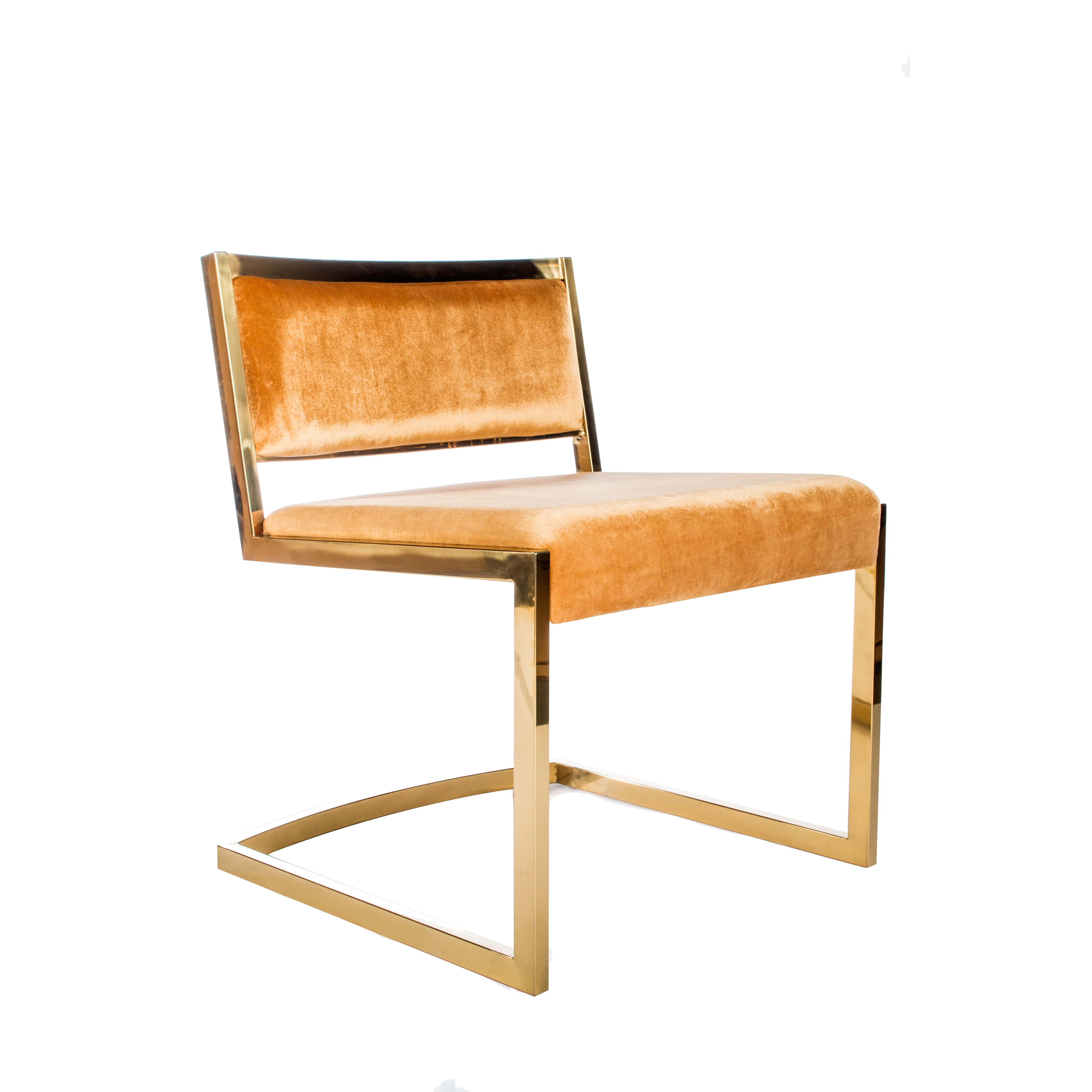 Bradley Gold Dining Chair | Dining chairs, Dining and Room