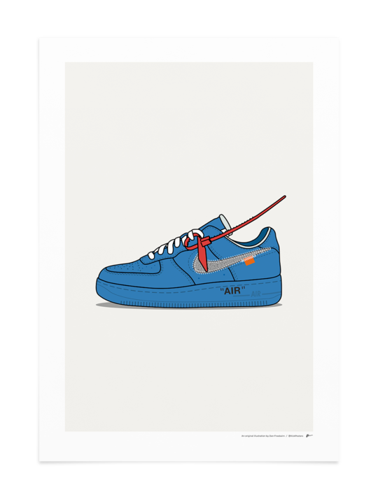 OffWhite Air Force 1 Blue in 2020 Sneaker posters