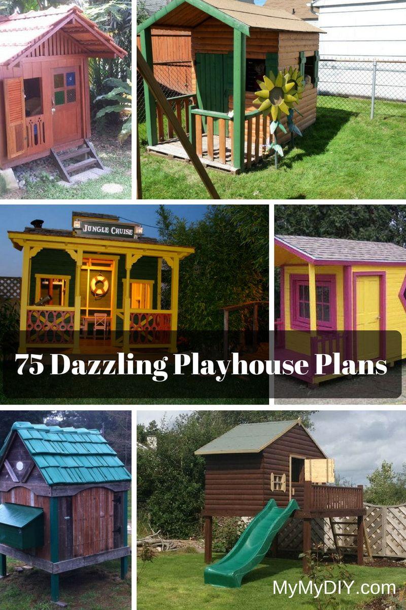 75 Dazzling Diy Playhouse Plans Free Mymydiy Inspiring Diy Projects Diy Playhouse Plans Diy Playhouse Play Houses Diy backyard playhouse plans free