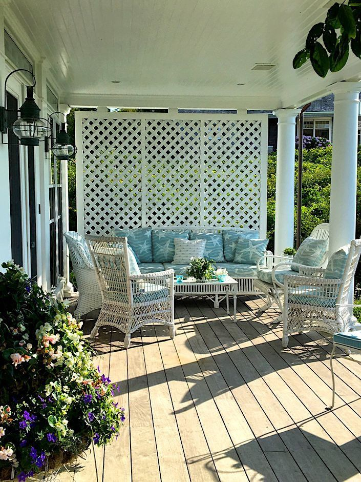 24 Low Cost Ways To Power Up Your Homes Curb Appeal: Porch Lattice, House With Porch, Porch Shades