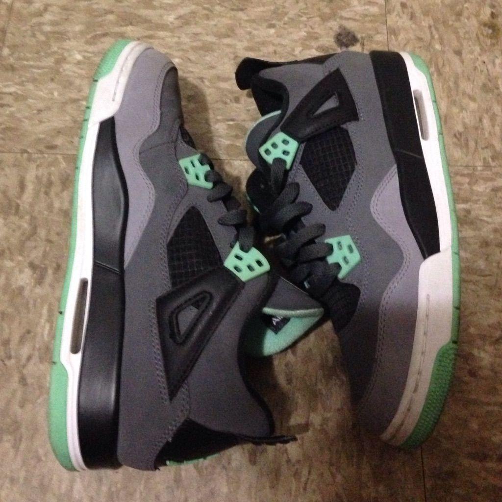 pretty nice 39fe3 37970 Jordan Shoes | Glow Green 4s | Color: Green | Size: 5.5 in ...