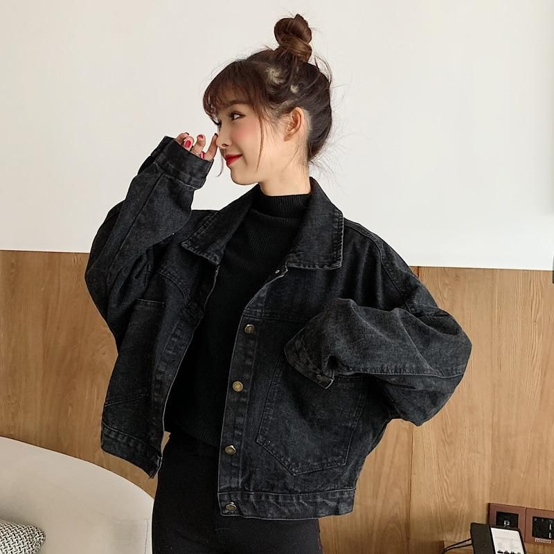 Clothing Length: ShortType: LooseCollar: Turn-down CollarClosure Type: Single BreastedStyle: CasualSleeve Length(cm): FullSleeve Style: RegularThickness: StandardMaterial: CottonMaterial: SpandexDecoration: ButtonDecoration: PocketsPattern