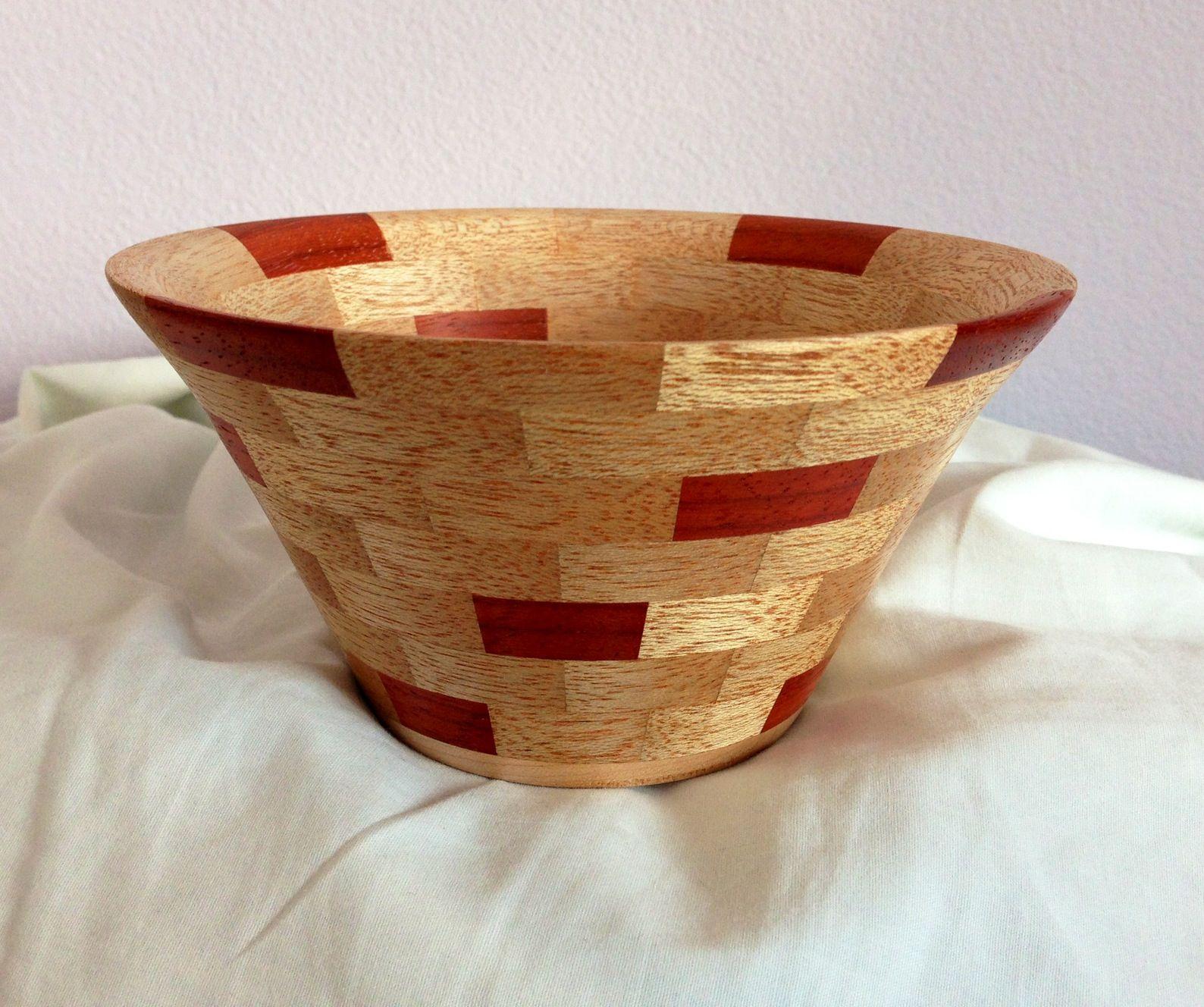 Mahogany And Padauk Segmented Bowl My Projects Wood
