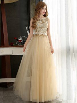 f68633072b7 Attractive A-Line Sweetheart Empire Waist Crystal Long Prom Dress ...