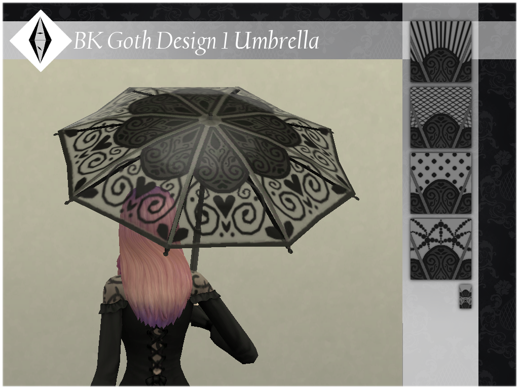 BK Goth Design 1 Umbrella TSR S4S You need [this mod] to