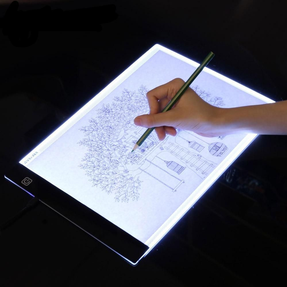 Led Lighted Drawing Board A4 Light Pad Painting Board Watercolor