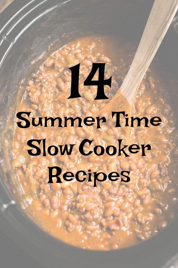 14 Summer Time Slow Cooker Recipes Coccion Lenta Comida Coccion