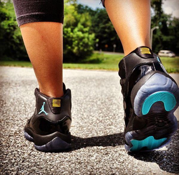 ea65c861e466e0 Air Jordan 11 Gamma Blue On Feet