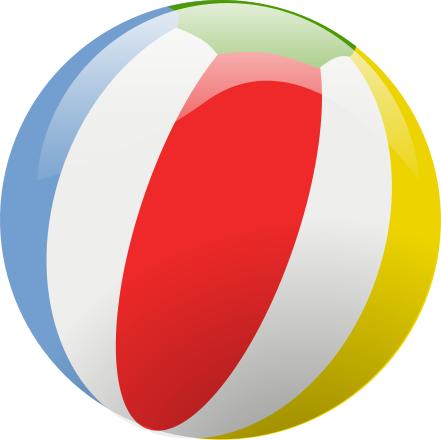 Beach Ball Glossy Png 441 440 Clip Art Beach Ball Free Clip Art