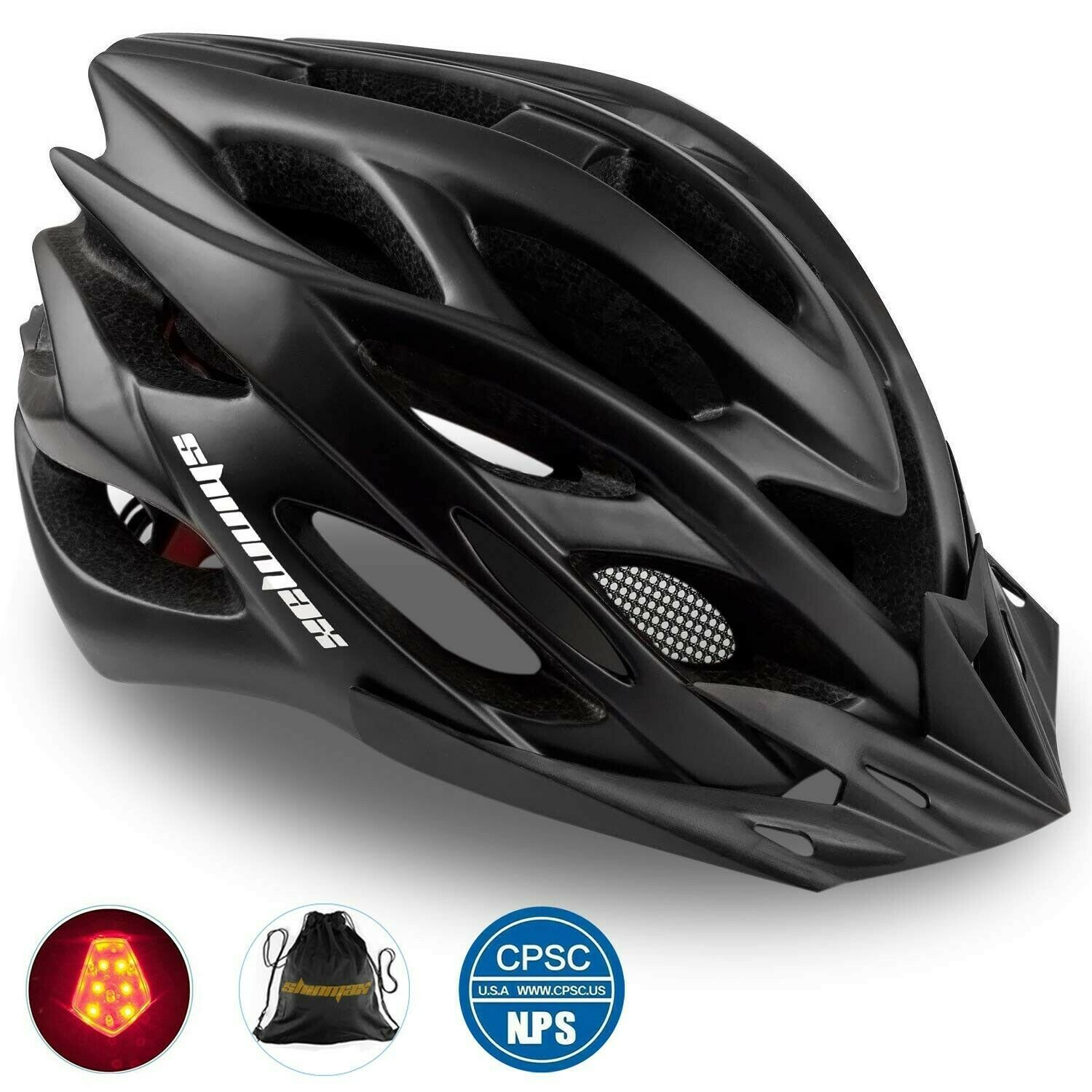Details About Shinmax Bike Helmet Cpsc Ce Certified Adjustable