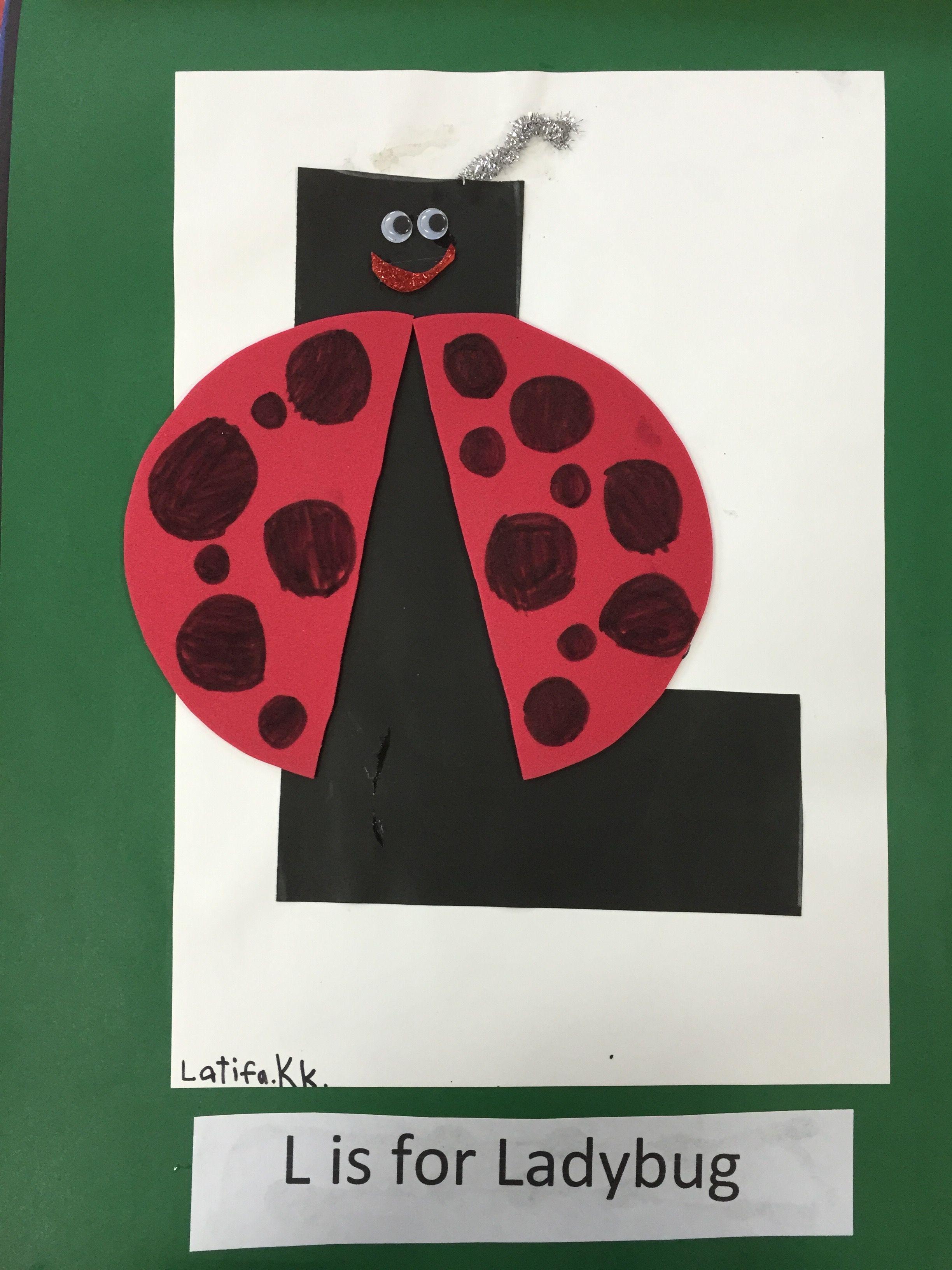 L Is For Ladybug Art Fine Motor Craft Abc Fun Activity