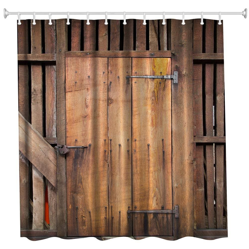 The Barn Doors Polyester Shower Curtain Bathroom Curtain High Definition 3d Printing Water Proof Bathroom Shower Curtains Barn Door Bathroom Curtains