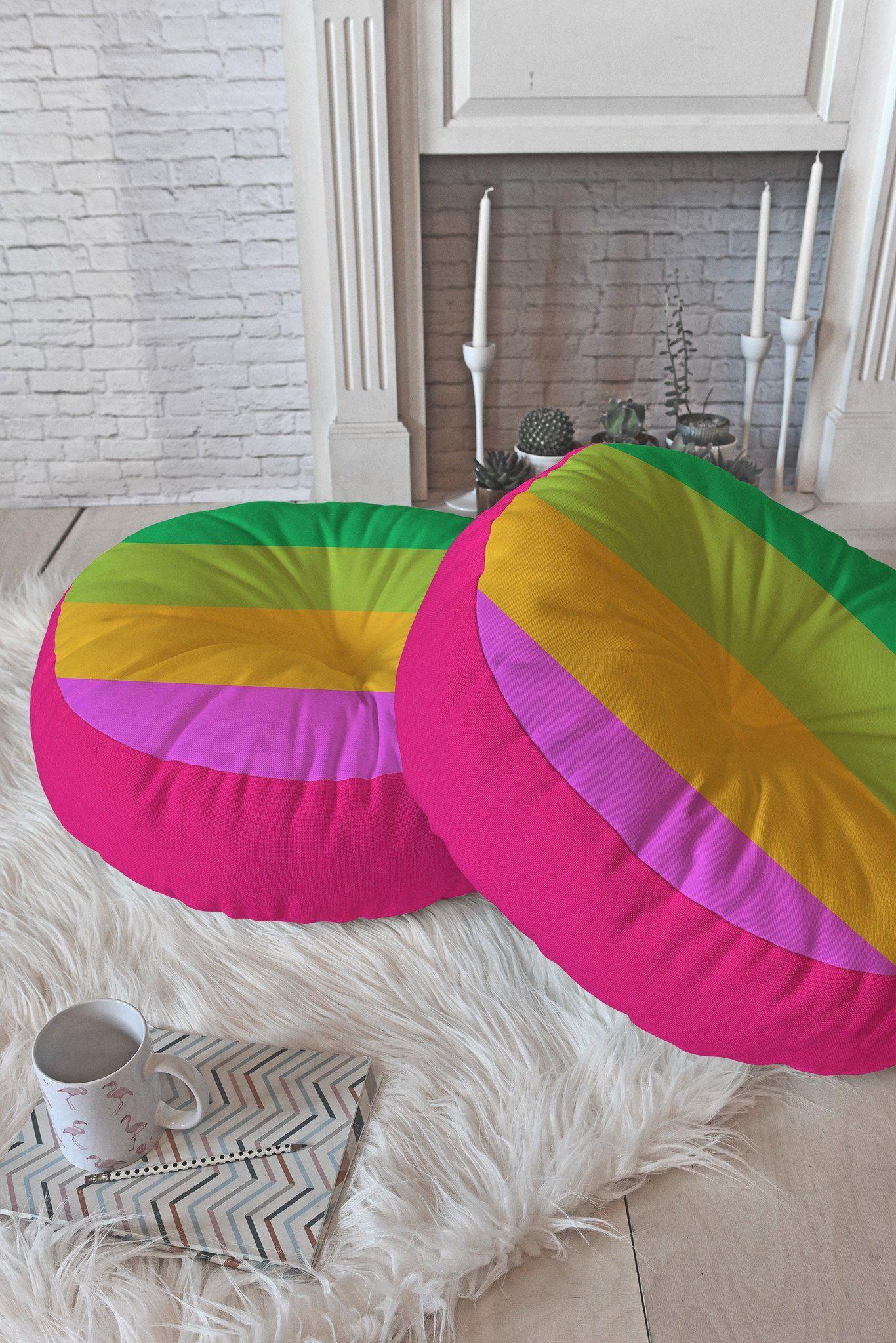 Garima Dhawan Mindscape 7 Floor Pillow Round Deny Designs Floor Pillows Pillows Garima Dhawan