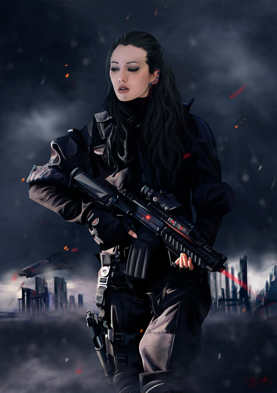 Pin by Fallon Tienda on Yay sci fi!   Cyberpunk character ...
