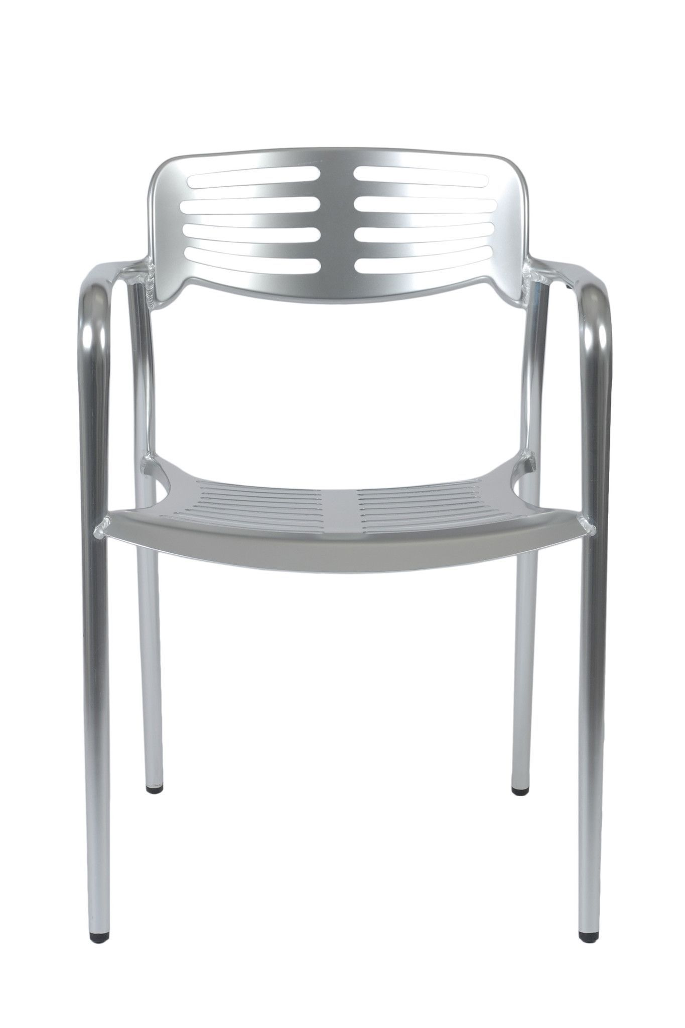 Helen Stacking Chair Shiny Aluminum (set of 4)