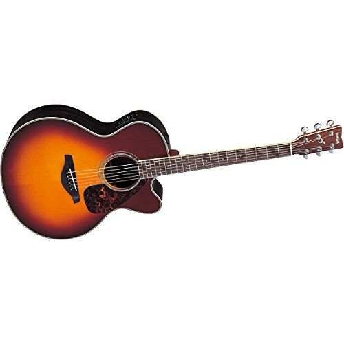 Yamaha Fjx730sc Acoustic Electric Guitar Brown Sunburst Die Cast Tuners Built In Tuner R T Rosewood Back And Sides Solid Sitka Spruce Top 1 Way Pickup Sy