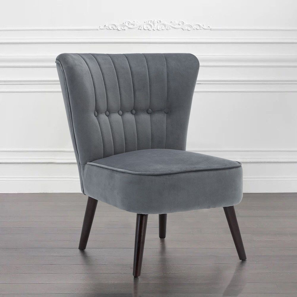 Occasional Grey Twist Upholstered Chair Easy Chair Dining Room