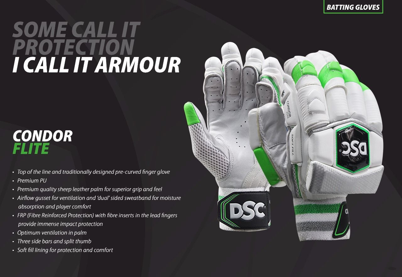 Condor Flite Contemporary And Light Weight Dsc Batting Gloves Made With The Best Materials For The Professional Players Batting Gloves Gloves Cricket Gloves