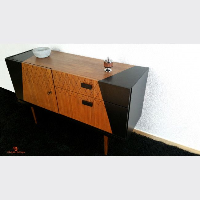 Bahut Vintage Relooke En Teck Annee 60 Mobilier De Salon Meuble Vintage Relooking Meuble