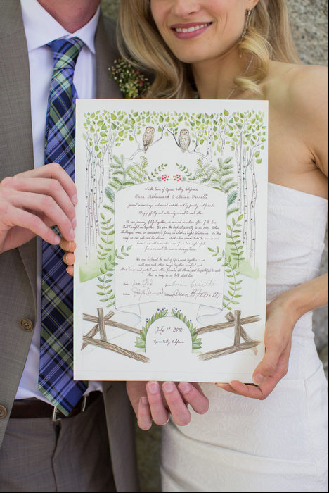 Pin On An Illustrated Wedding