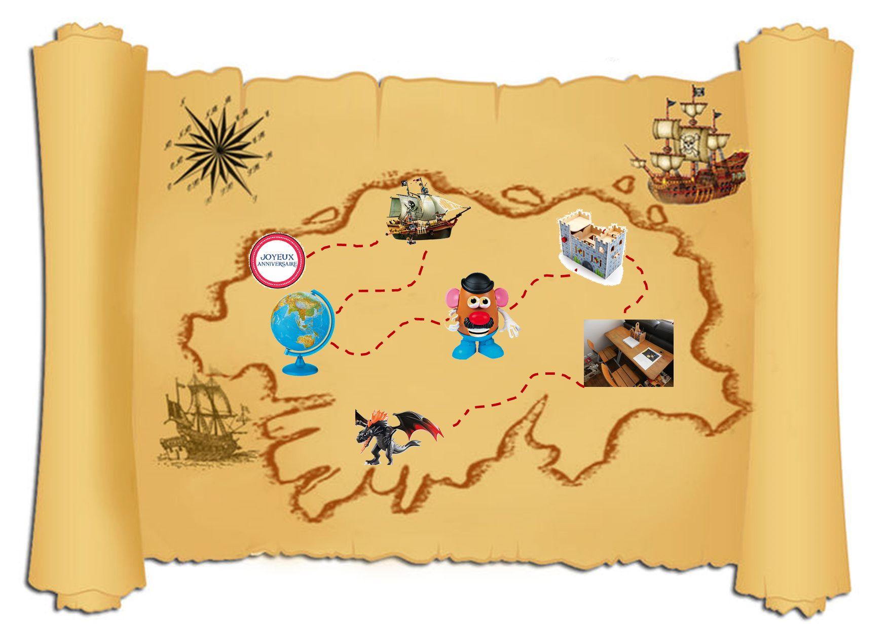 14 Magnifique Dessin Carte Au Tresor Pirate A Imprimer Photos