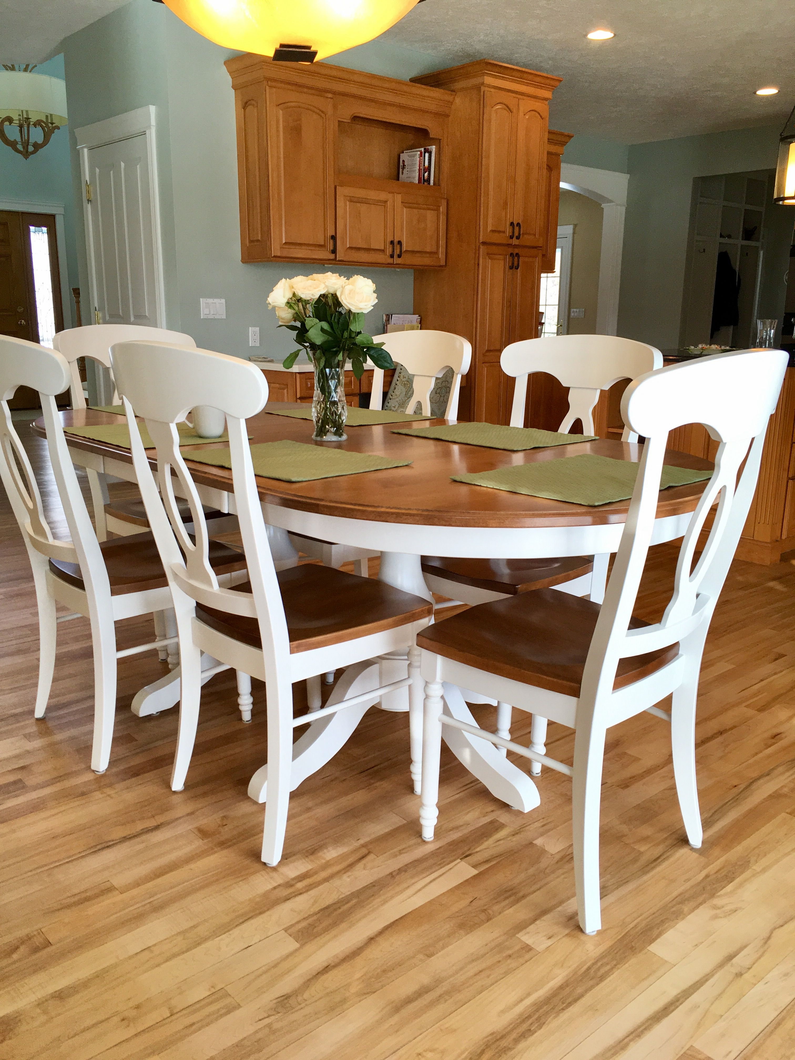 Table: Palettes by Winesburg. Paint color is Comfort Gray by Sherwin Williams