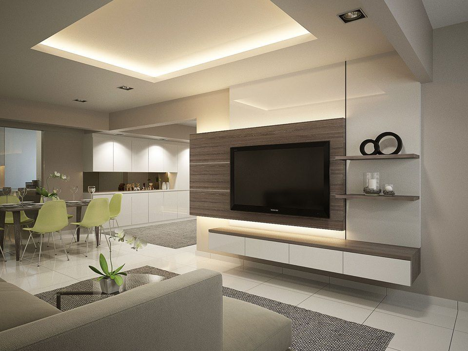 HDB Resale 5 Room Modern Contemporary Tv Nitesi Tv Wall Fireplace Pinter