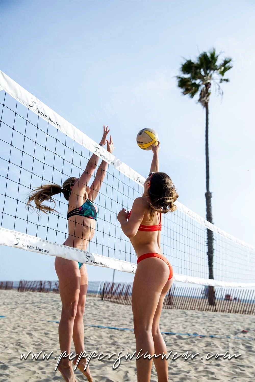 Beachvolleyballswimwear Volleyball Activities Including Bralette Boarding Bikinis Durable Sty In 2020 Beach Volleyball Outfits Volleyball Outfits Surf Bikinis