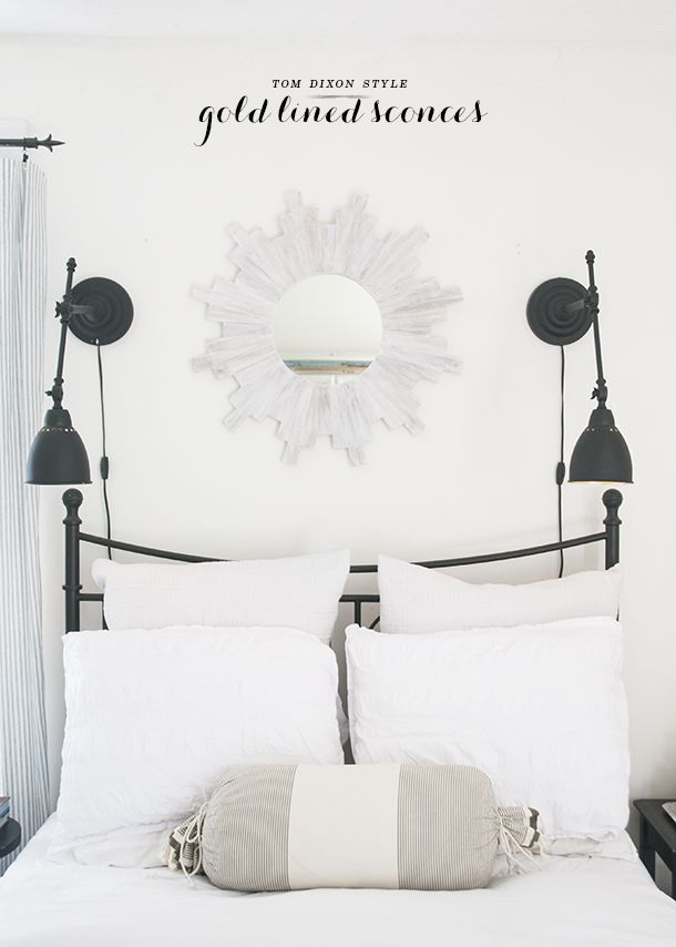 bedside sconce lighting. I Told You On Monday That Had A Lamp Re-work In The Cards And Now It\u0027s Done! If You\u0027ll Notice From Monday\u0027s Post, Both Of My Bedside Lamps Were Two Sconce Lighting E