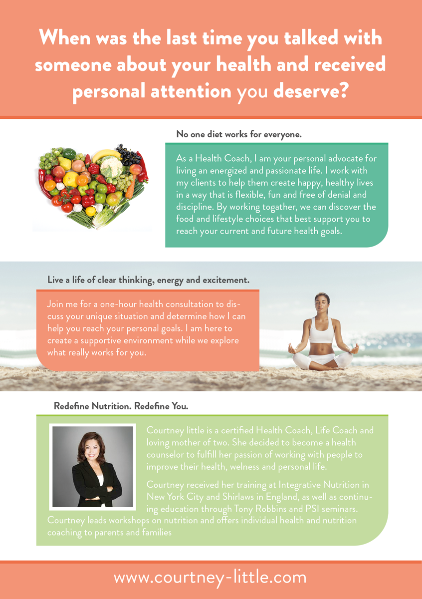 flyer design by fcj graphics for holistic health coach