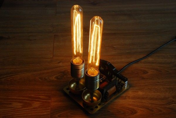 Lamp From An Old Phone Ring With Edison Bulb In 2020 Edison Bulb Bulb Lamp