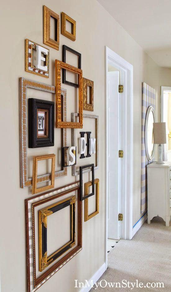 Decorar una pared con marcos vacíos   IDEAS   Pinterest   Marcos ...