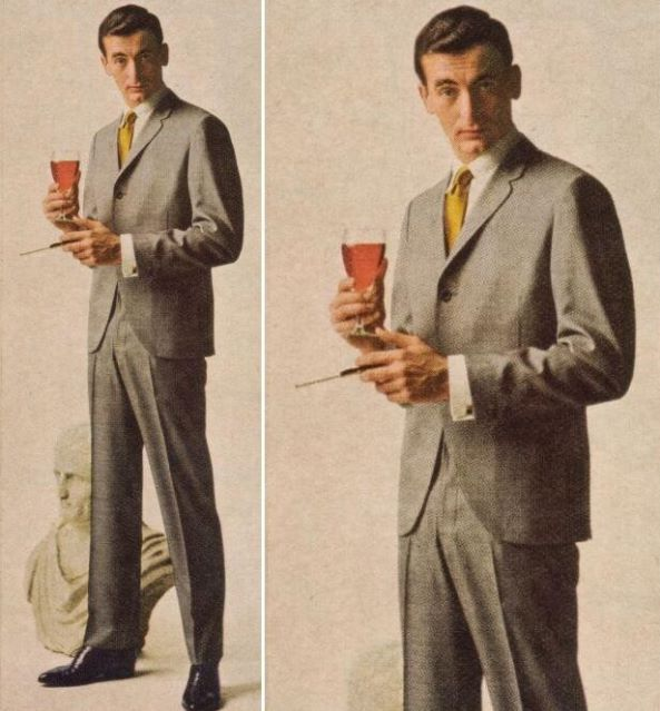 Continental Suit A Popular For Men That Was Cut Differently To Have Closer 1950s Mens FashionVintage