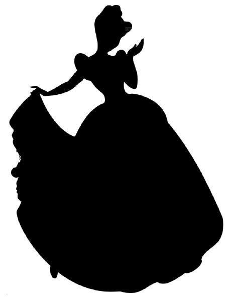 Cinderella silhouette vinyl decal 4 00 via etsy