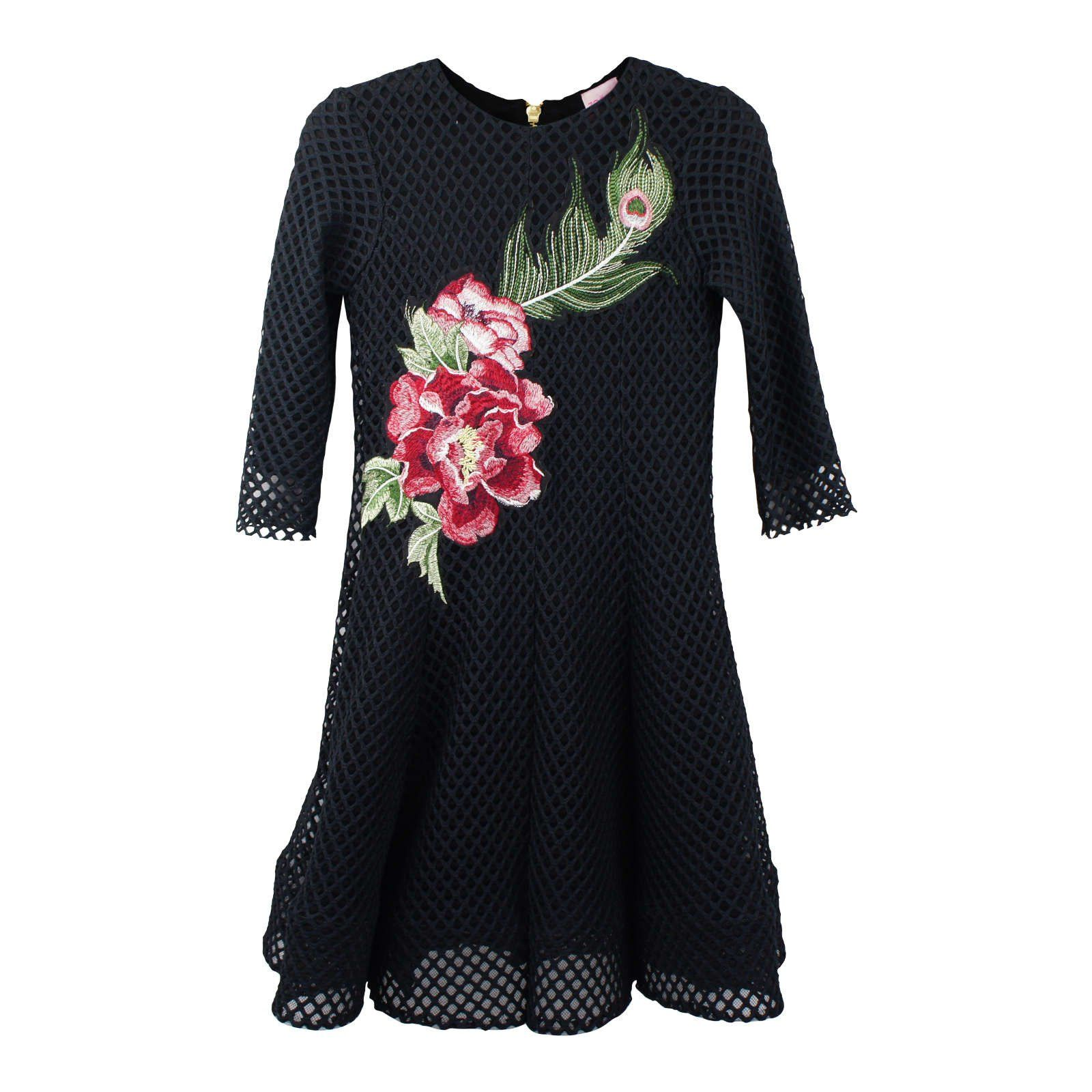 Zoe Big Girls' Fit and Flare Embroidered Dress